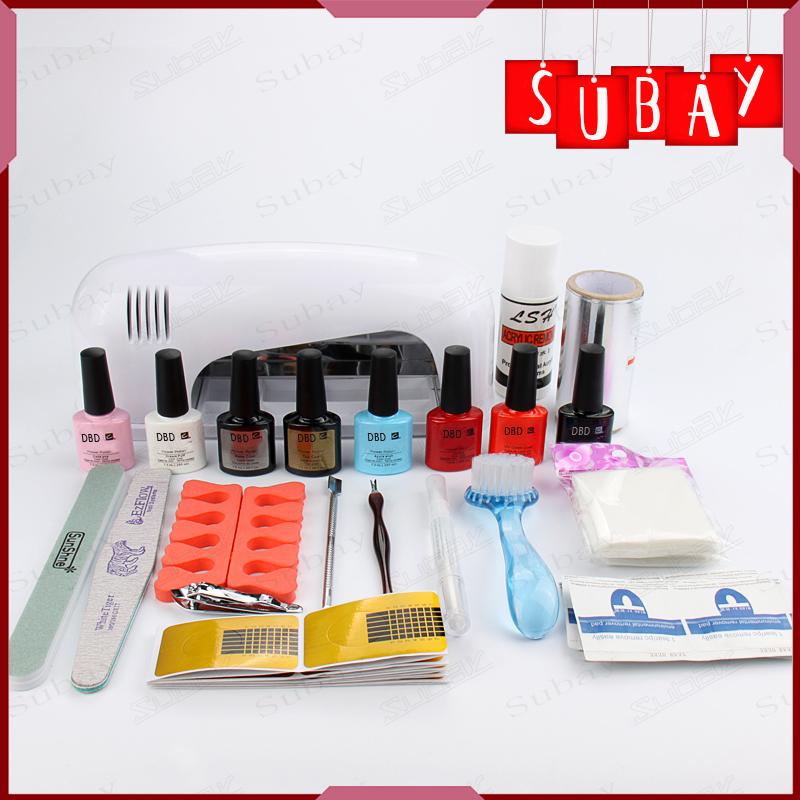 Gel Polish Set Soak Off LED/UV Gel Kit UV 9W Curing Lamp