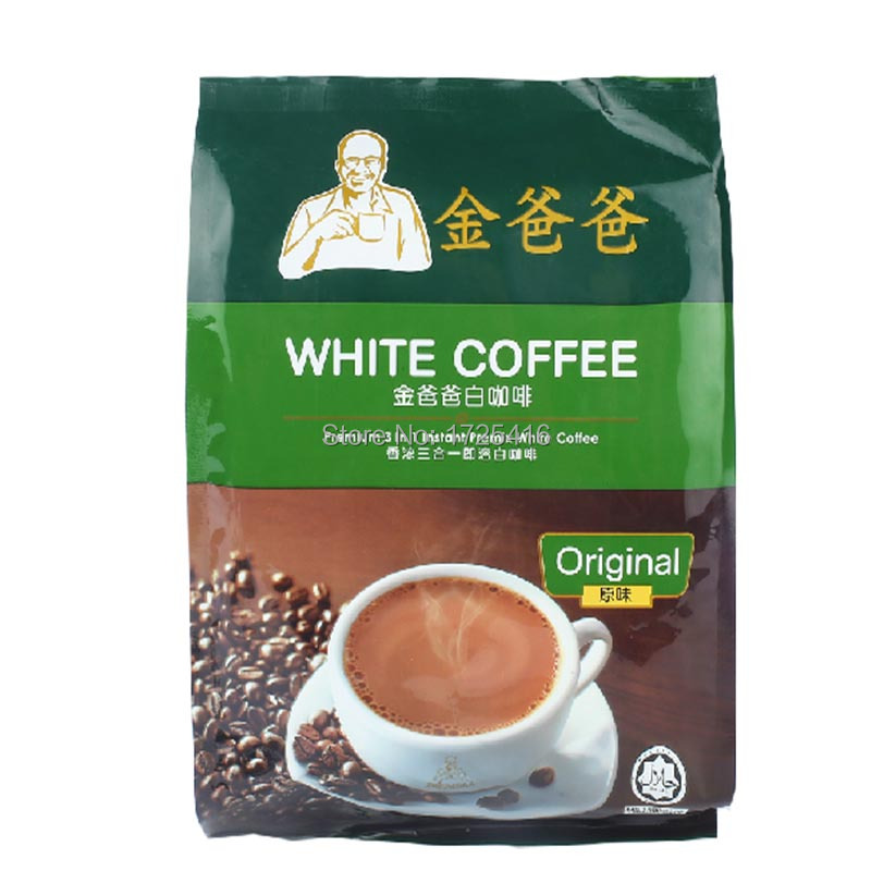 Malaysia White Coffee gold imports father triple coffee instant coffee 480g free shipping
