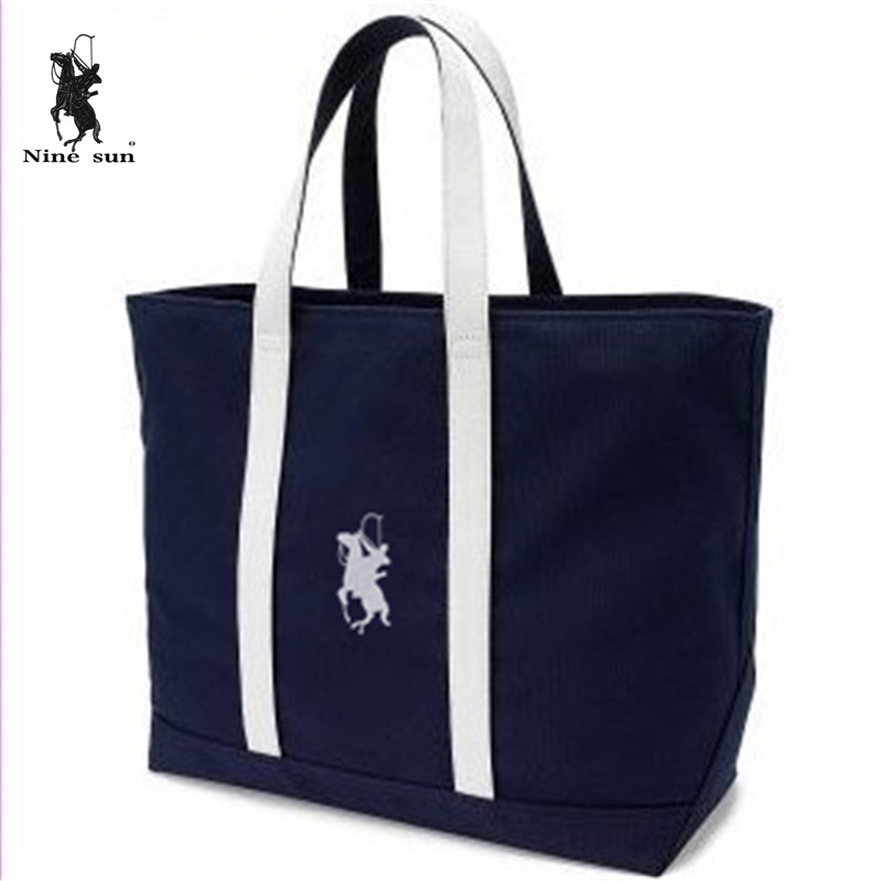 2015 Air-parcel brand women polo ralp canvas bag designer handbags high quality woman navy shoulder bags 43*13*32(China (Mainland))