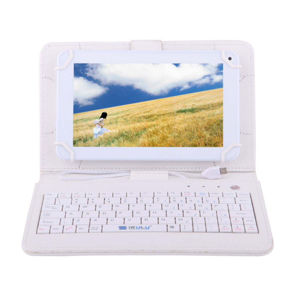IRULU eXpro X1c 7 inch Android Tablet PC Allwinner 8GB Quad Core Cheap Internet White Keyboard Case 2015 Newest - iRulu-Net store