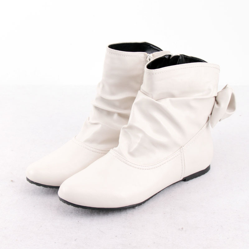 wholesale!2014 spring autumn Free Shipping women's fashion white flat heel motorcycle boots , Ladies boots(China (Mainland))