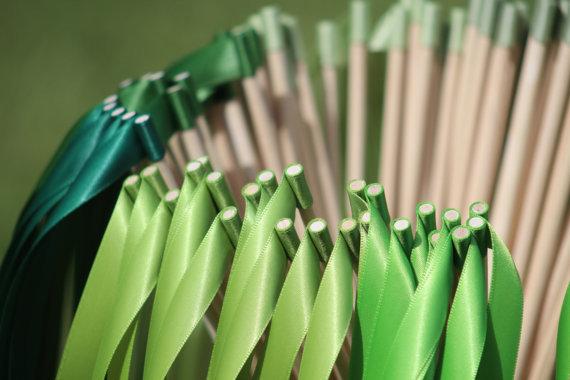100pcs Wedding decoration kits green series Ribbon Wands Party Ribbon Streamers(China (Mainland))