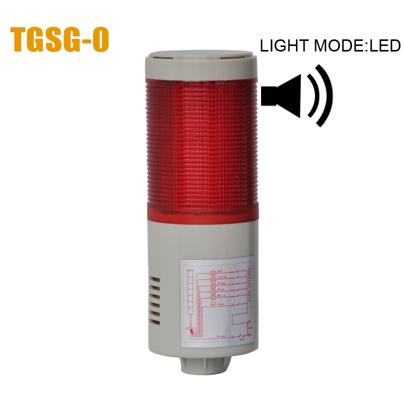 LTA-505 AC220V 1 Layer LED Warning Lamp Alarm 90dB Indicator Light Industrial Emergency Strobe Light Beacon Tower Signal(China (Mainland))