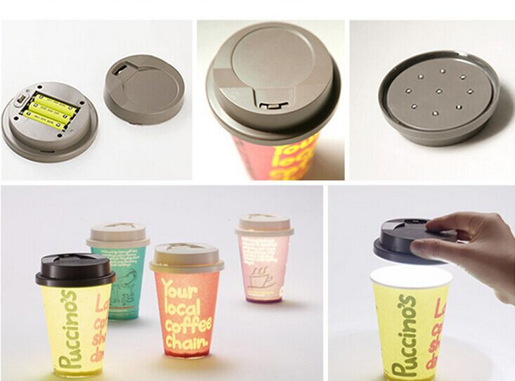 Cups variable light LED night light bedside battery cup coffee cup shape nightlight(China (Mainland))
