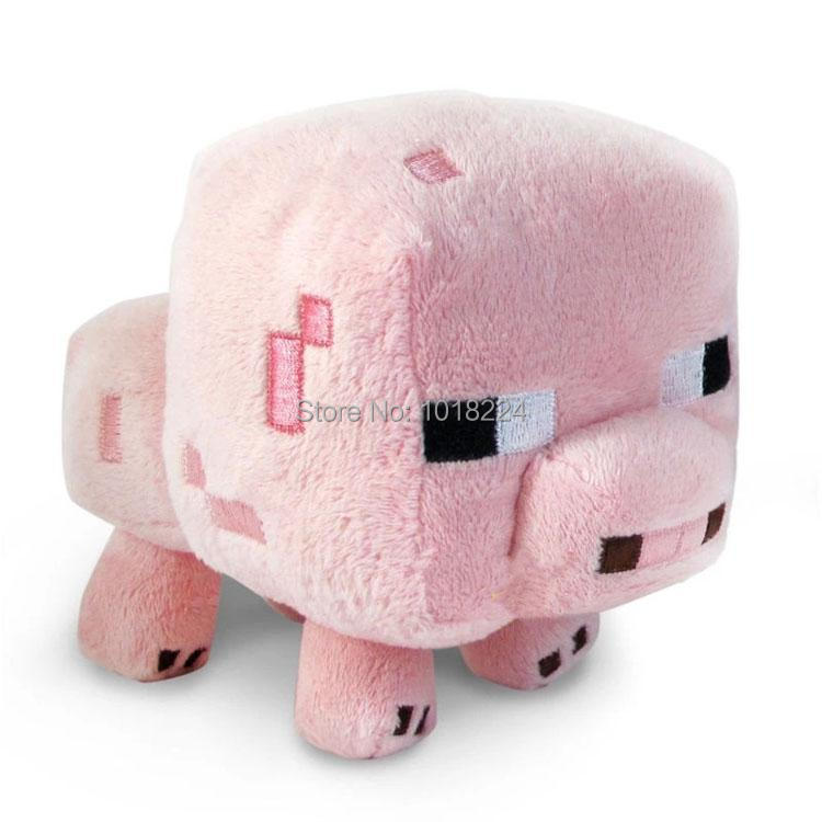 8/25 on sale New juguetes pink pig Stuffed Plush Dolls toy my world brinquedo doll Gift for baby kids children Christmas 1pc(China (Mainland))