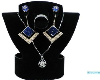 lot of 10 Earring Necklace Ring Set Display Stand  Free Shipping necklace foldable display