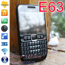 Refurbished Original NOKIA E63 Mobile Phone 3G Wifi Russian QWERTY Keyboard Unlocked(China (Mainland))