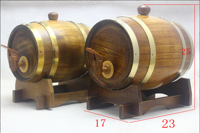 1.5LBeer wine Decoration Art crafts Wine accessories Brewed Table Bar Wine Oak Barrel Hotel Decoration(China (Mainland))