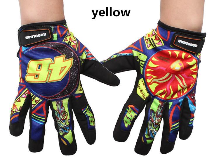 New 2015 Summer Breathable Non-Slip Print Motorcycle Gloves Motocross Motorbike Cycling Racing Gloves luva moto guantes 4 Colors(China (Mainland))