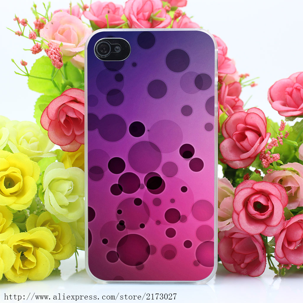 435Y Circles Surface Light Shapes Sizes Hard Case Transparent Cover for iPhone 4 4s 5 5s 5c SE 6 6s Plus(China (Mainland))