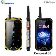 """Buy Rugged Waterproof Phone 3GB RAM 32GB ROM 6000mAH CONQUEST S8 Quad Core 5"""" HD Android Ip68 GPS 4G LTE FDD Radio UHF Walkie talkie for $374.00 in AliExpress store"""