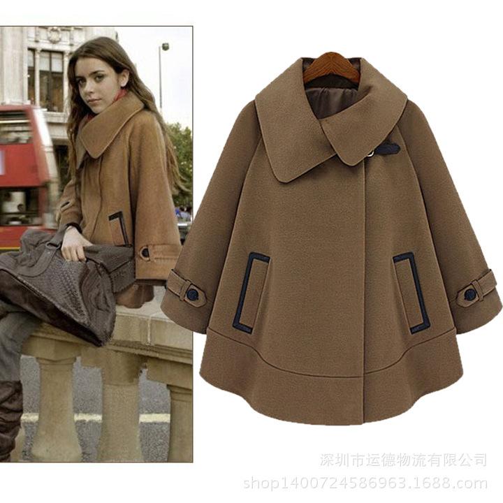 cor en hiver pour femme bat cape manteau de laine pour femme des veste dans laine et m langes de. Black Bedroom Furniture Sets. Home Design Ideas