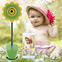 Novelty Sunflower Wireless Wifi Baby Security Camera with Video Two Way Audio Night Vision Function 11 IR LED Build-in Card Slot(China (Mainland))