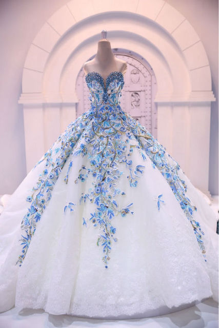 Buy romantic big ball gown wedding dress for Big beautiful wedding dresses