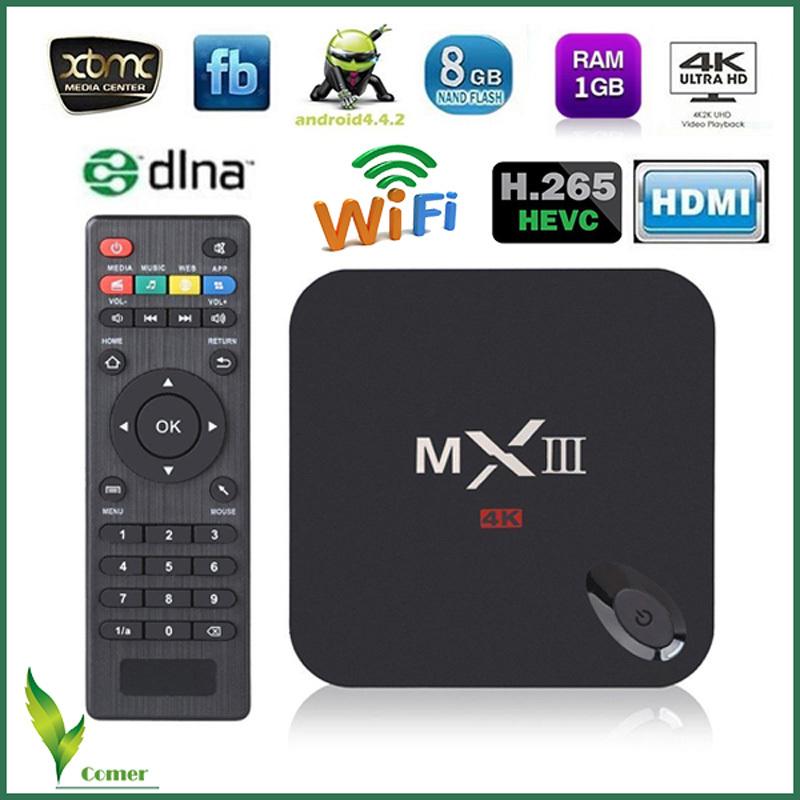 Newest MX3 TV BOX MX3 Android tv box Amlogic S802 quad core android 4.4 4k 2gb/8gb MXIII tv box(China (Mainland))
