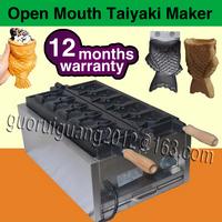 Japanses open mouth taiyaki machine, electric fish shaped cake machine, ice cream taiyaki maker, 110V/220V