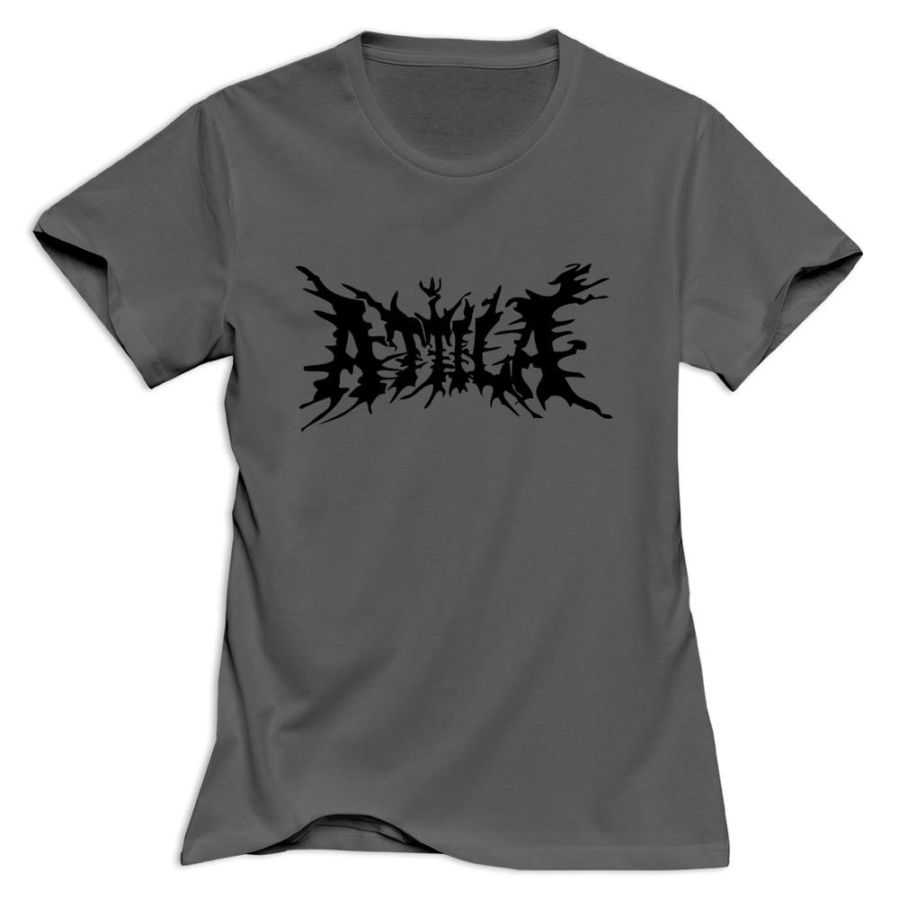 2015 casual o neck t shirt logo band attila logo women 39 s t for Bulk t shirts with logo
