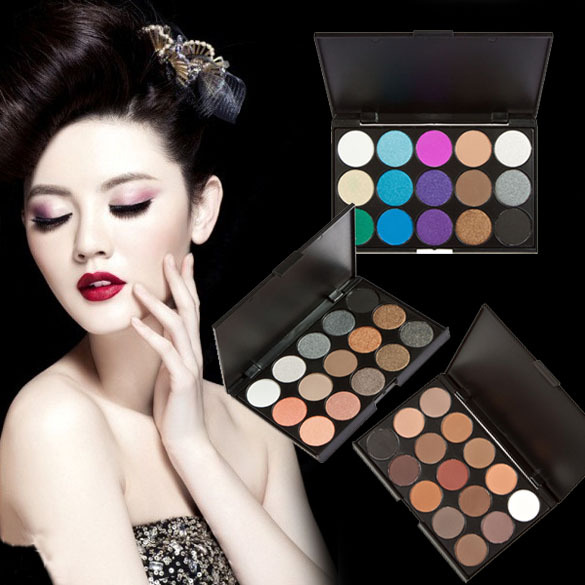 ONLY 15 Colors Eye Shadow Makeup Shimmer Matte Eyeshadow Palette Set Free Shipping(China (Mainland))
