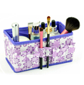 Folding Multifunction Makeup Cosmetic Storage Box Container Case Organizer Multifunction Beauty Flower 7 3 7 4inch