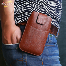 Buy KISSCASE Universal Belt Clip Leather Phone Bag Case iPhone 6 7 5 Case Samsung Galaxy S8 Hang Waist Bag Huawei Xiaomi for $2.99 in AliExpress store