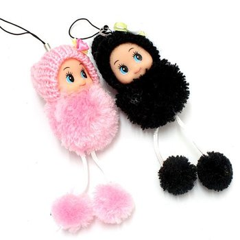 Free Shipping, mobile phone chain wholesale, cute little girl Phone Straps, hanging bags,Sweater girl