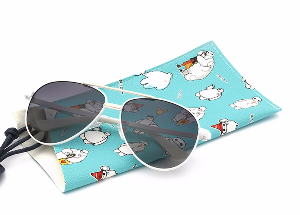 SOOLALA Unisex Boys Girls Dazzle Color Metal Frame Classic Polarized Aviator Sunglasses Fashion Eyewear for Kids(China (Mainland))