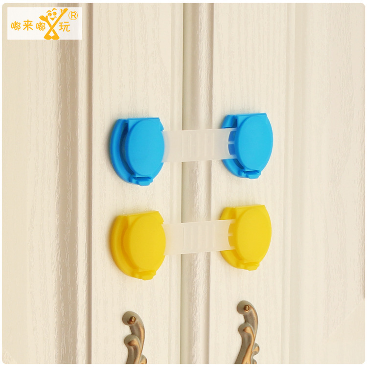 10pcs/lot children door lock security cabinet plastic lock for child baby safety cabinet drawer lock children kids protection
