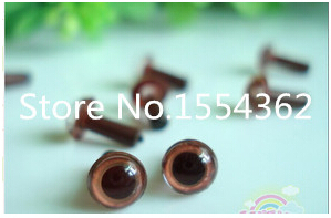 free shipping!!!200pcs 6mm Brown Plastic Safety Eyes Amigurumi Stuffed Wool Felted Animals with washer(China (Mainland))