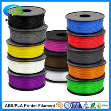 Free shipping 13 Colors 3D Printer Filament PLA 1.75mm material 1.00KG Plastic Rubber Consumables Material