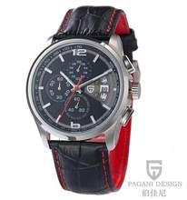 Hommes montres à Quartz PAGANI DESIGN marques de luxe mode mouvement chronométré montres militaires en cuir montres à Quartz relogio masculino(China)