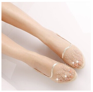 New Summer Breathable Bling Jelly Shoes Cutout Flat Heel Bird Nest Mesh Flat Sandals For Women Fashion women shoes jelly sandals(China (Mainland))
