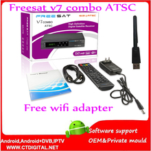 Buy freesat V7 atsc 5pcs powervu Youtube free video DVB-S2 1080p ccam newcam iptv FREESAT V7 combo atsc Satellite Receiver for $192.00 in AliExpress store