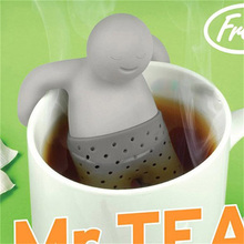 Buy Funny Tea Infuser Filter Teapot Teabags Tea & Coffee Mr.Tea Infuser Silicone Tea Leaf Strainer Herbal Spice Filter Hot Sale for $1.16 in AliExpress store