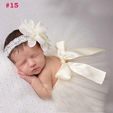 Summer Style tulle skirt matching top knot Baby Hair Accessories Infant Toddler newborn photography prop tutu skirt(China (Mainland))