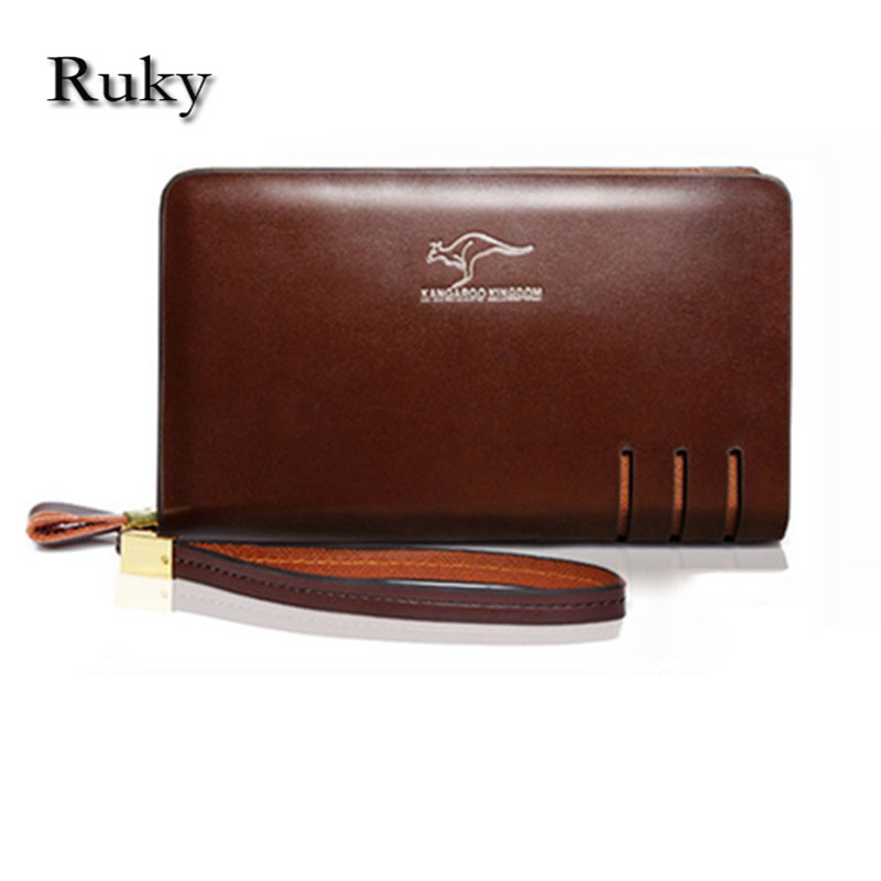 Brand men wallets dollar price purse Genuine high quality leather wallet card holder luxury designer clutch business wallet(China (Mainland))