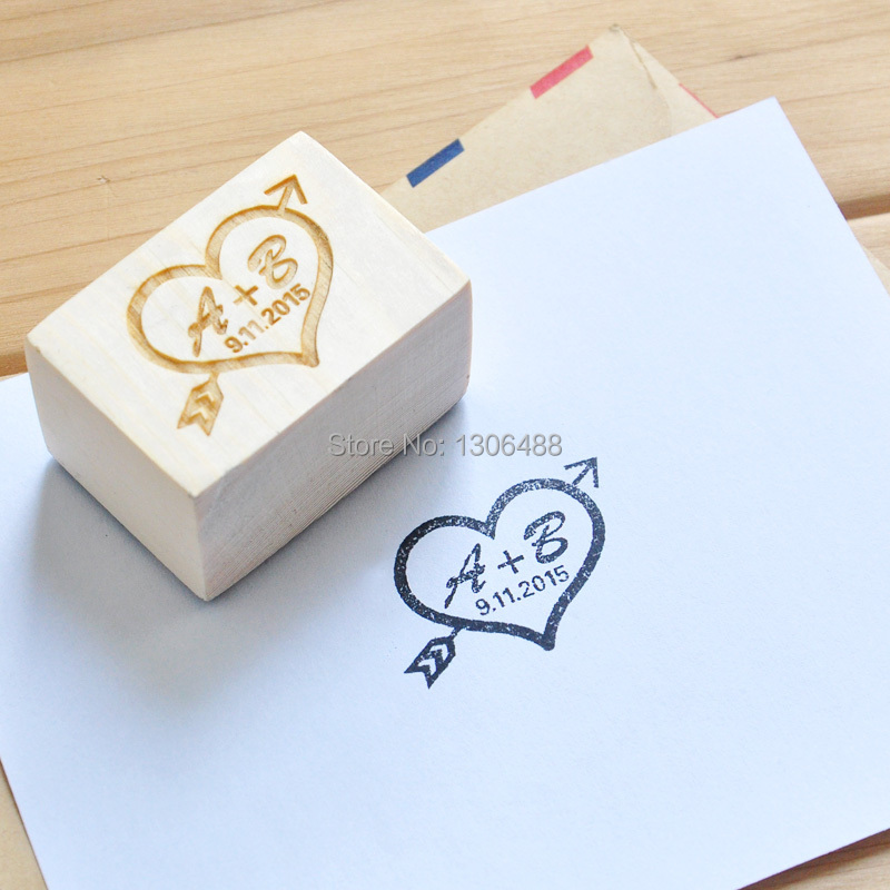 personalized wedding stamp custom wood stamp wedding