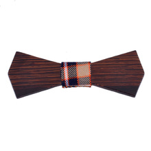 2016 Creative Heart-Shaped Wooden Bow Ties New Bowknot Bowtie for Mens Wedding Party Accessories Neck Ties Plaid Pattern Gravata
