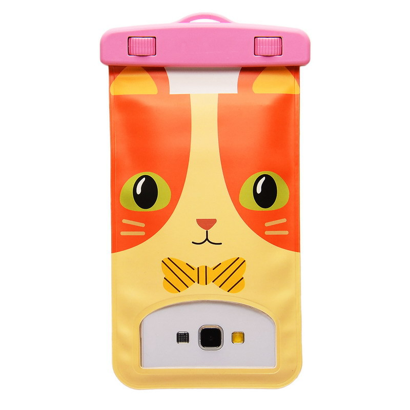 6.0 inch Cartoon Universal Waterproof Underwater Durable Bag Case Pouch For Mobile Phone For Elephone P8000 Lovely Cat Style