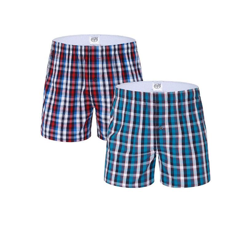 Full Cotton Plus Size Mens Underwear Homme Men's Boxer Shorts Fashion Breathable Boxer Underwear(China (Mainland))