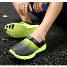 2015 Summer Unisex Men Slippers Shoes Women Casual Shoes Mesh Breathable Sandals Unisex Couples Beach Slippers/Sandals KH850370(China (Mainland))