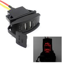 Hot selling LED 12V 24V Car Auto Boat Accessory Dual USB Charger Power Adapter LED Outlet free shipping Yay(China (Mainland))