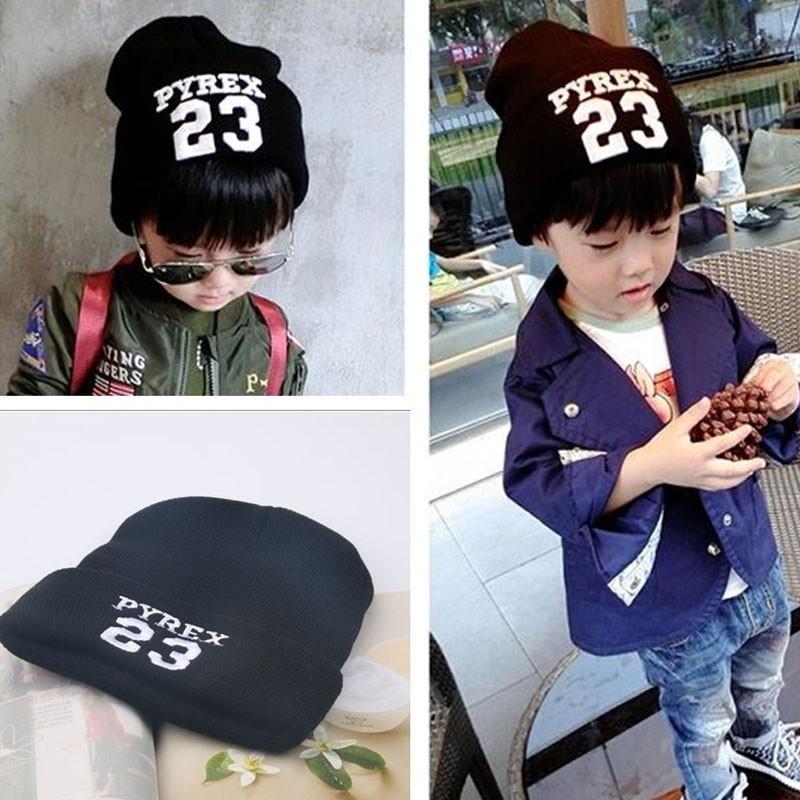 Корейский стиль симпатичные вязаная шапка шапки для детей мальчики Hat мода письмо № Cap весна осень зима теплые шапки 1 шт. H766