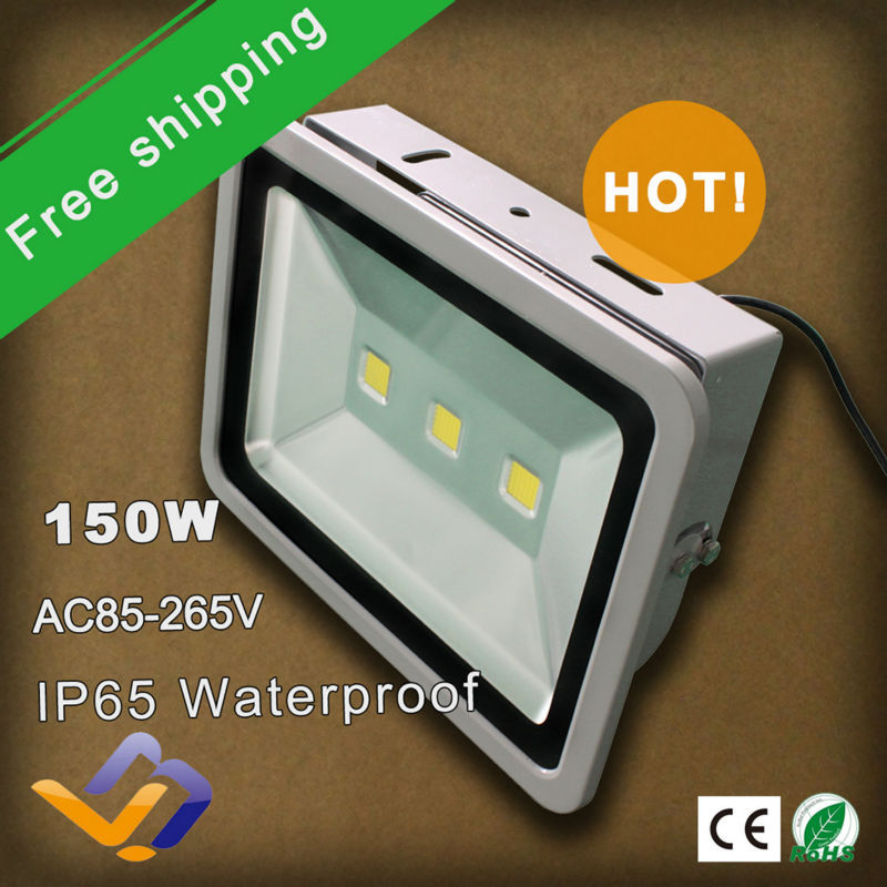 2pcs/lot free shipping factory sale! Waterproof IP65 150W LED Flash Landscape Lighting 110V 120V 220V 230V outdoor Flood Light(China (Mainland))