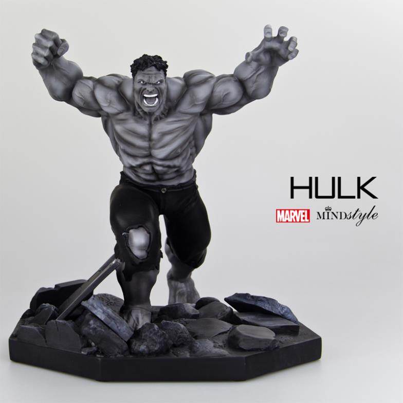 2014 NEW !  Limited mindstyle Marvel Avengers Hulk hulk sculpture collection of black and white version of the model<br><br>Aliexpress