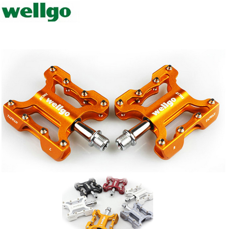 Taiwan wellgo road bike pedal mountain bike pedal bicycle accessories end bearing pedals pedals KC001