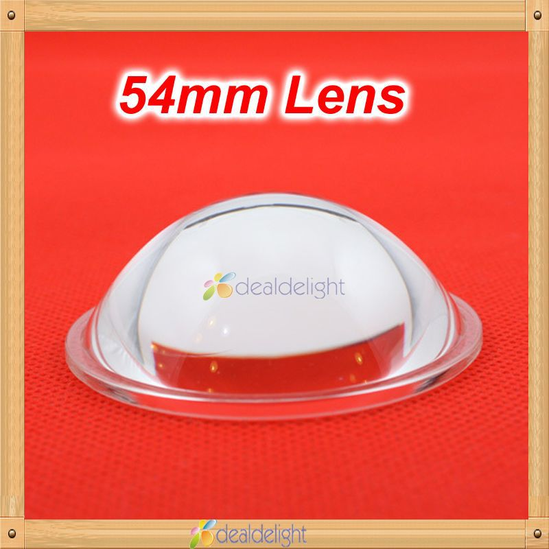 Freeshipping! 54 mm optical glass lens LED flat convex lens 5-90 degree for DIY 20W 30W High Power LED Lamp/Light Chip<br><br>Aliexpress