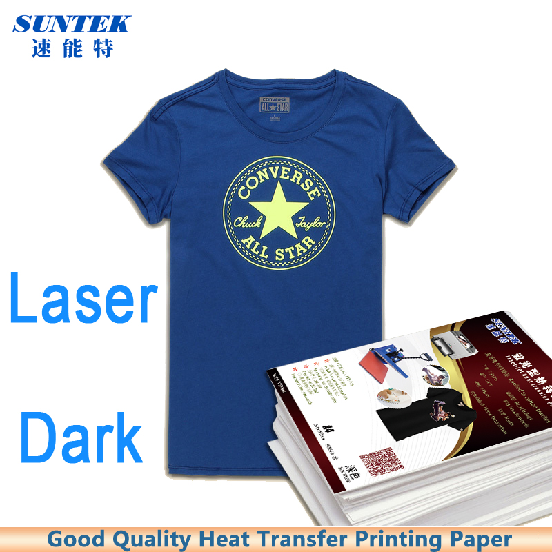 50sheets A4 Size Laser White Dark Color Heat Transfer Printing Paper Thermal Transfer Paper for T-shirt Fabric(China (Mainland))