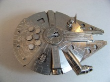 """1/300 Star Wars movie """"falcon one thousand"""" full metal spacecraft assembly model(China (Mainland))"""