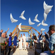 Buy 50pcs/Lot 105*48 Flying White Dove Balloons Wedding Globos Balao Dove Balloons Peace Bird Ball Pigeons Peace Dove Foil Balloons for $34.02 in AliExpress store