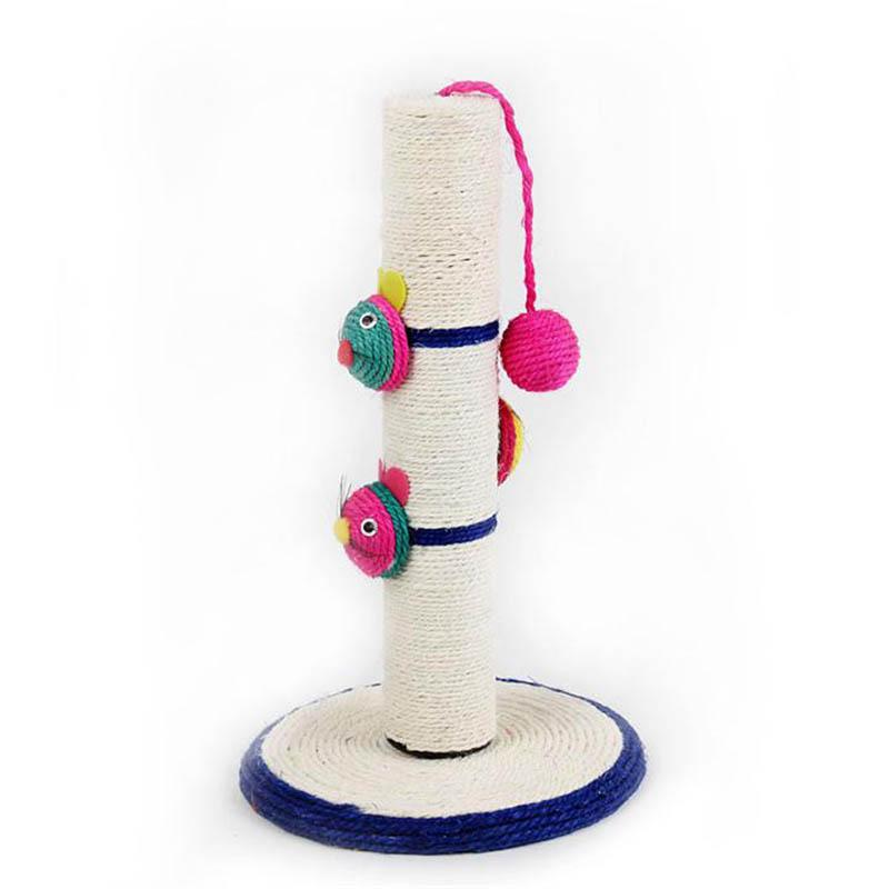 Hot Cat Claws Grinding Resistance to Grasp The Funny Cat Toys Cat Climbing Frame Lob Sisal Mouse Cat Tree Clown Long Column(China (Mainland))